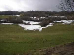 Durante buena parte de esta primera etapa la nieve se observaba durante el Camino