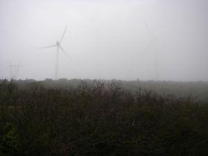La niebla era abundante en la cima del Monte del Perdón