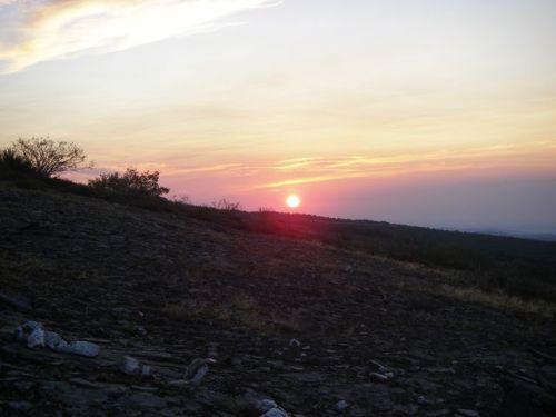 Salida del Sol yendo a Foncebadón