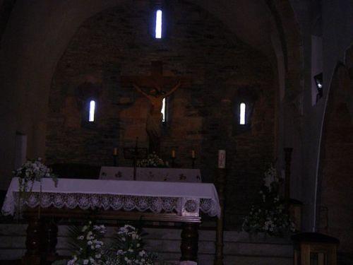 O Cebreiro. Interiror de la Iglesia de Santa Matría la Real.