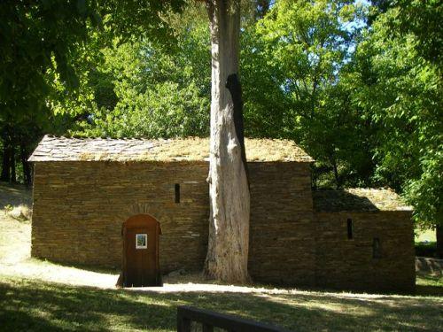 Samos. Monasterio Mozárabe y árbol centenario