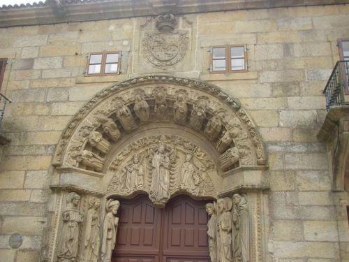 Santiago de Compostela. Puerta Rectorado Universidad