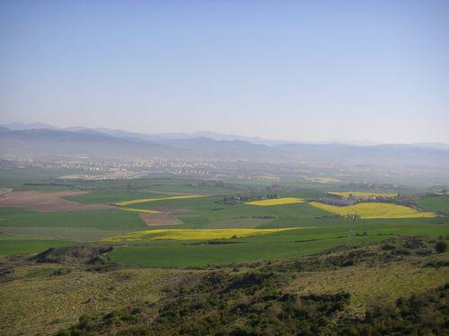 Vista desde el Monte del Perdón (Navarra)