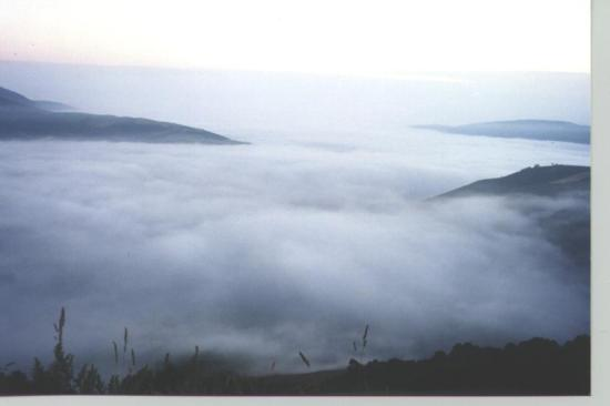 Mar de nubes en Cebreiro
